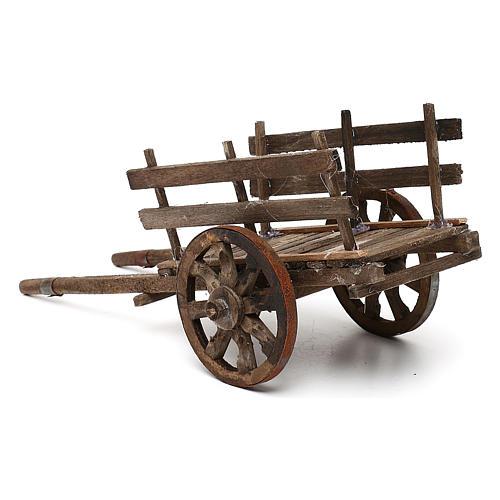 Carro in legno presepe napoletano cm 14 3