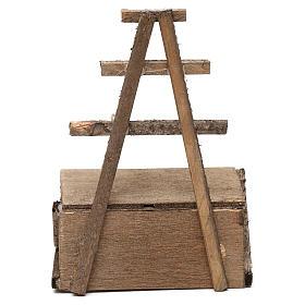 Banchetto in legno presepe napoletano 12 cm s3