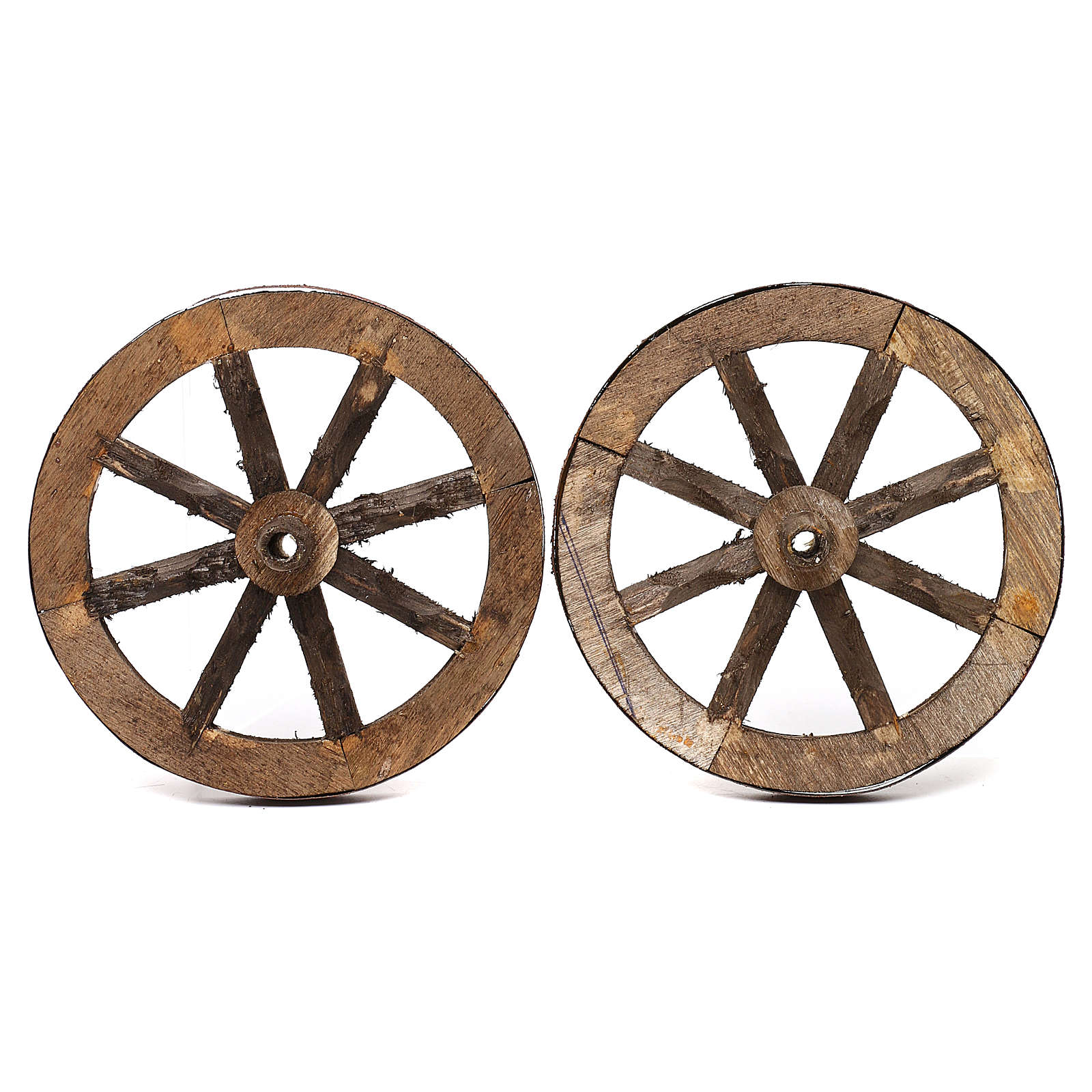 Set of two wheels in wood 14 cm 4