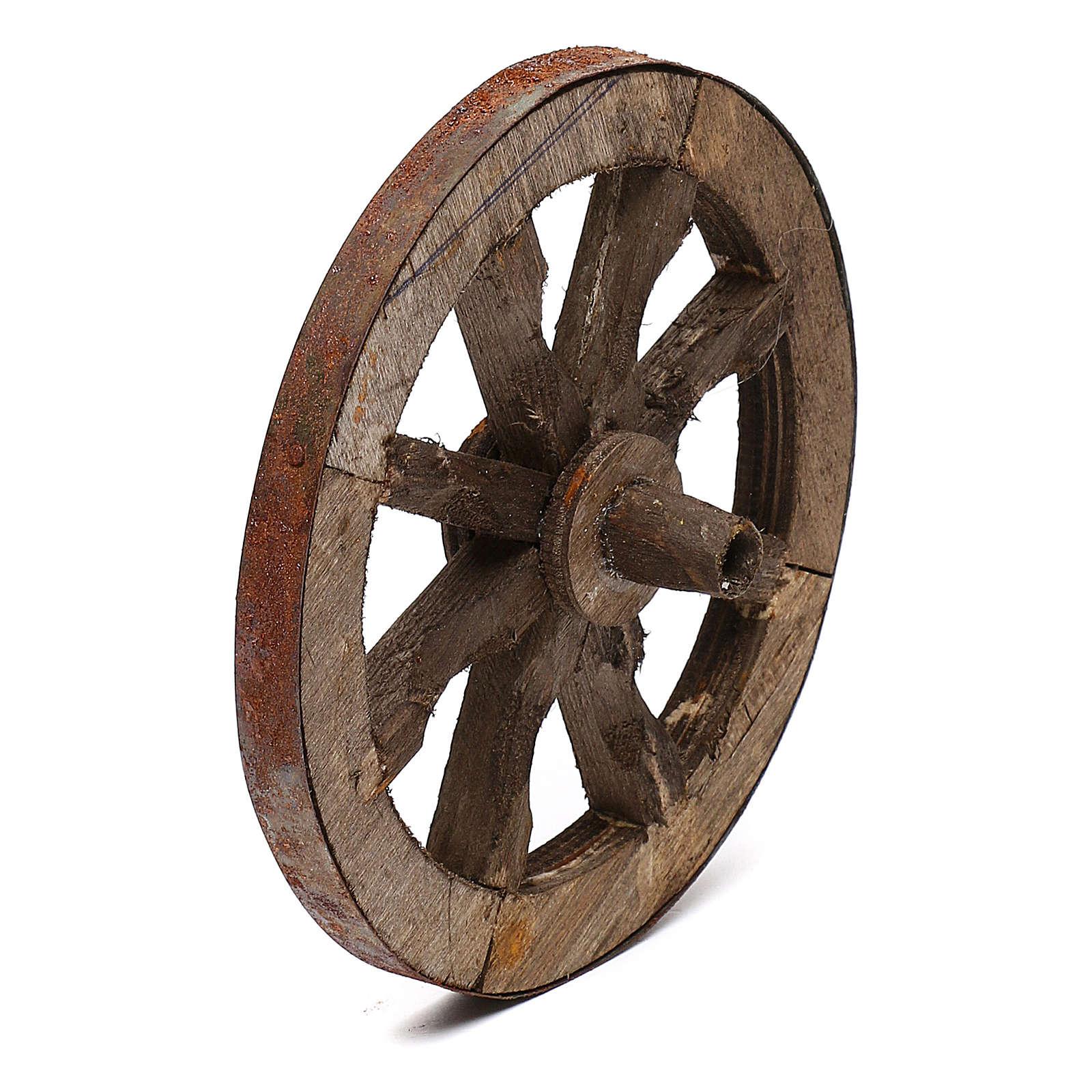Set due ruote in legno 14 cm 4