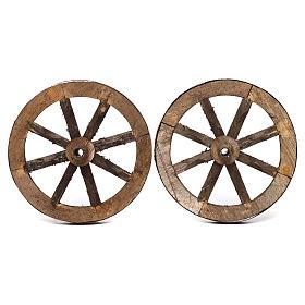 Set due ruote in legno 14 cm s1