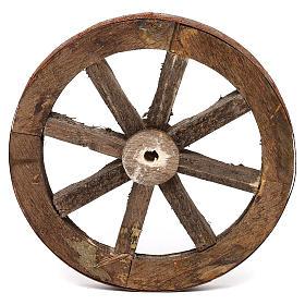 Set due ruote in legno 14 cm s3