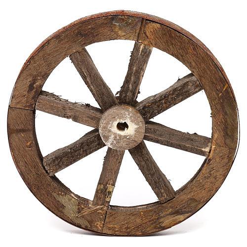 Set due ruote in legno 14 cm 3