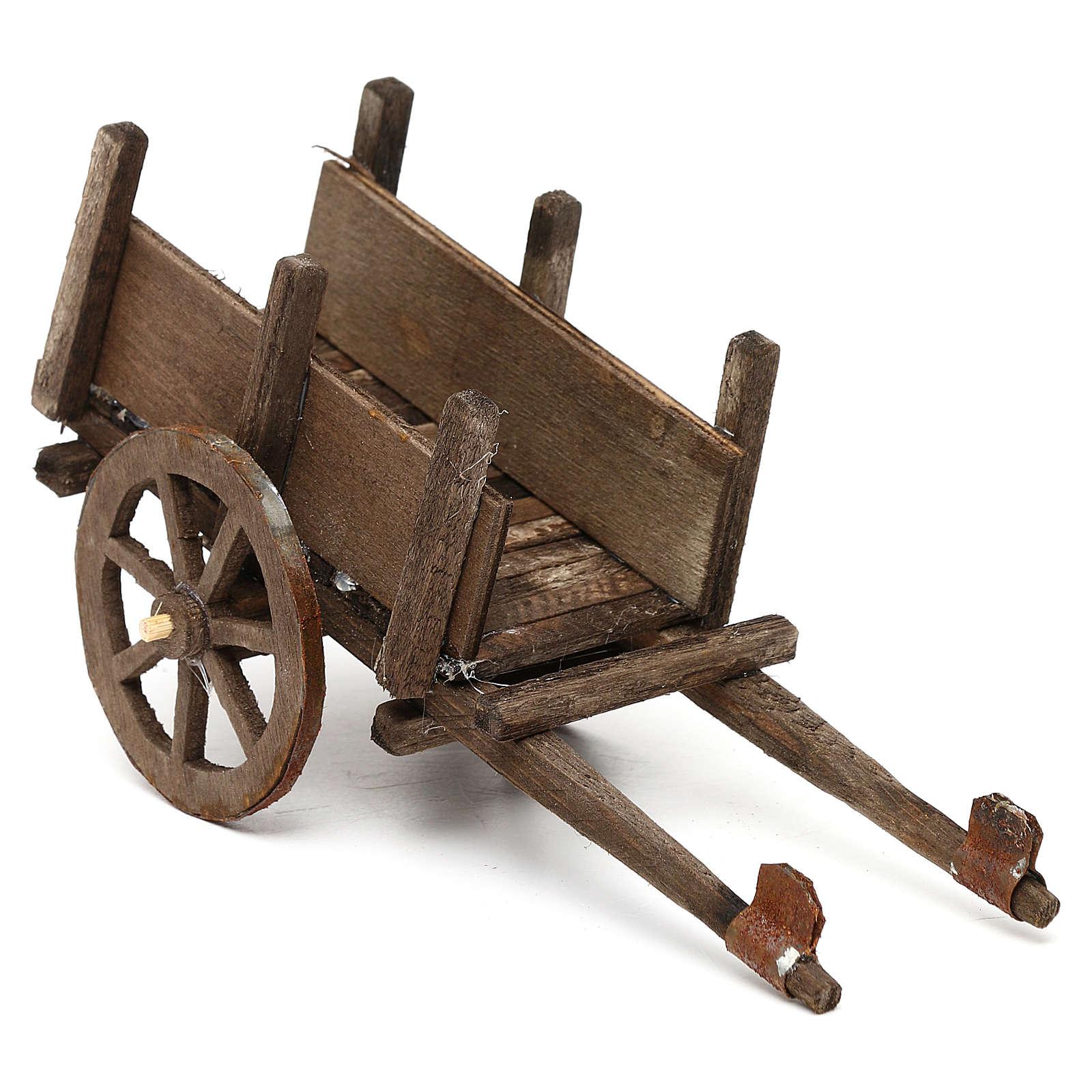 Wooden cart for Neapolitan Nativity Scene 12 cm 4
