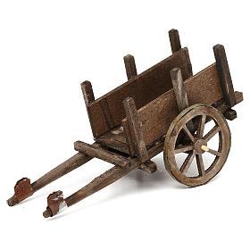 Wooden cart for Neapolitan Nativity Scene 12 cm s1