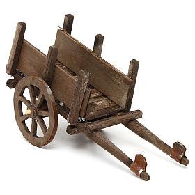 Wózek z drewna szopka neapolitańska 12 cm s2