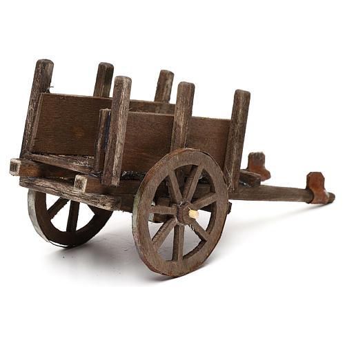 Wózek z drewna szopka neapolitańska 12 cm 3