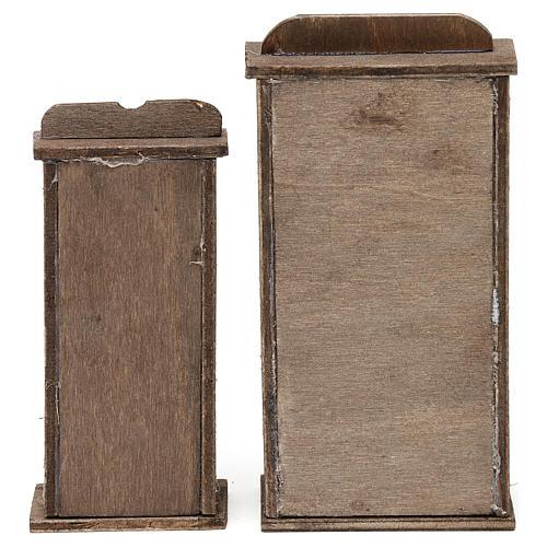Prateleiras dois modelos para presépio napolitano com peças de 10-12 cm de altura média 4