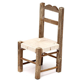 Set 3 sedie in legno 10/12/14 cm presepe napoletano s2
