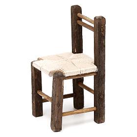 Set 3 sedie in legno 10/12/14 cm presepe napoletano s3