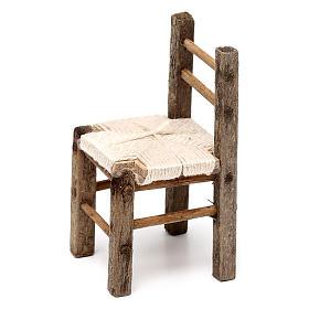 Set 3 sedie in legno 10/12/14 cm presepe napoletano s4
