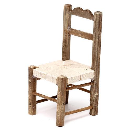 Set 3 sedie in legno 10/12/14 cm presepe napoletano 2