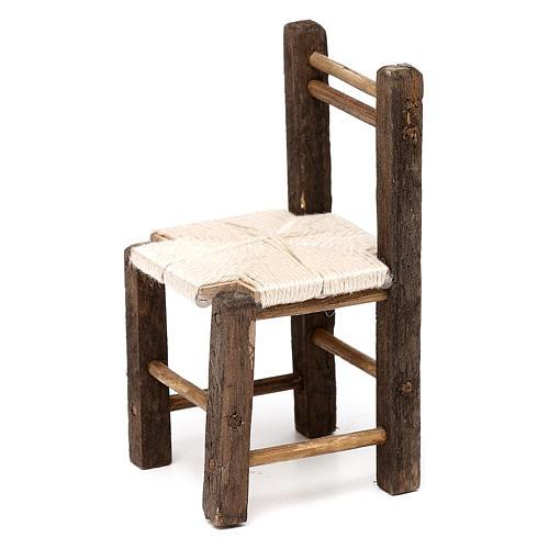 Set 3 sedie in legno 10/12/14 cm presepe napoletano 3