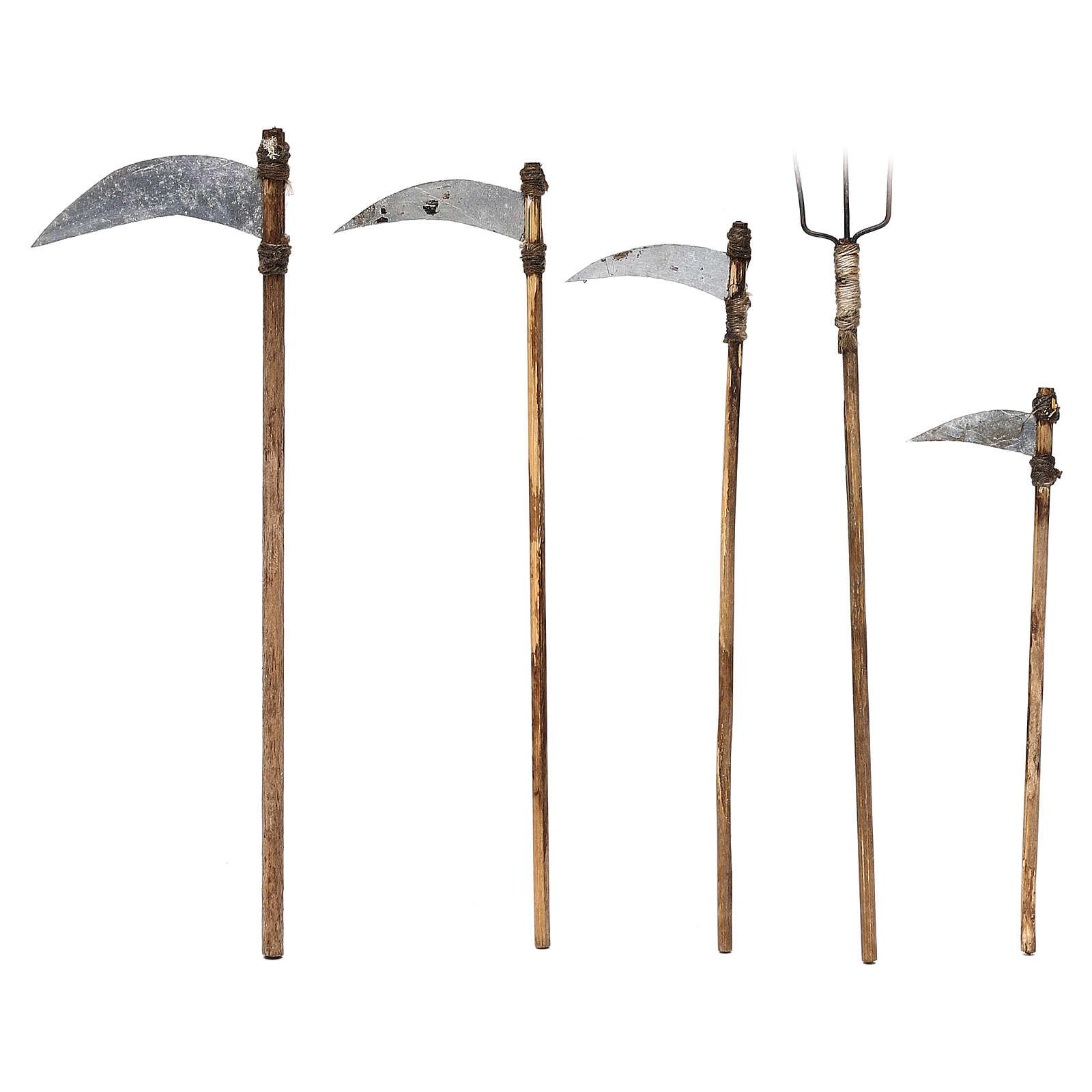 Cinco herramientas de trabajo belén napolitano 12 cm 4