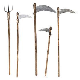 Cinco herramientas de trabajo belén napolitano 12 cm s1