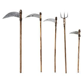 Cinco herramientas de trabajo belén napolitano 12 cm s2