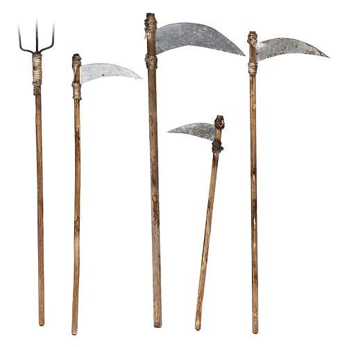 Cinco herramientas de trabajo belén napolitano 12 cm 1