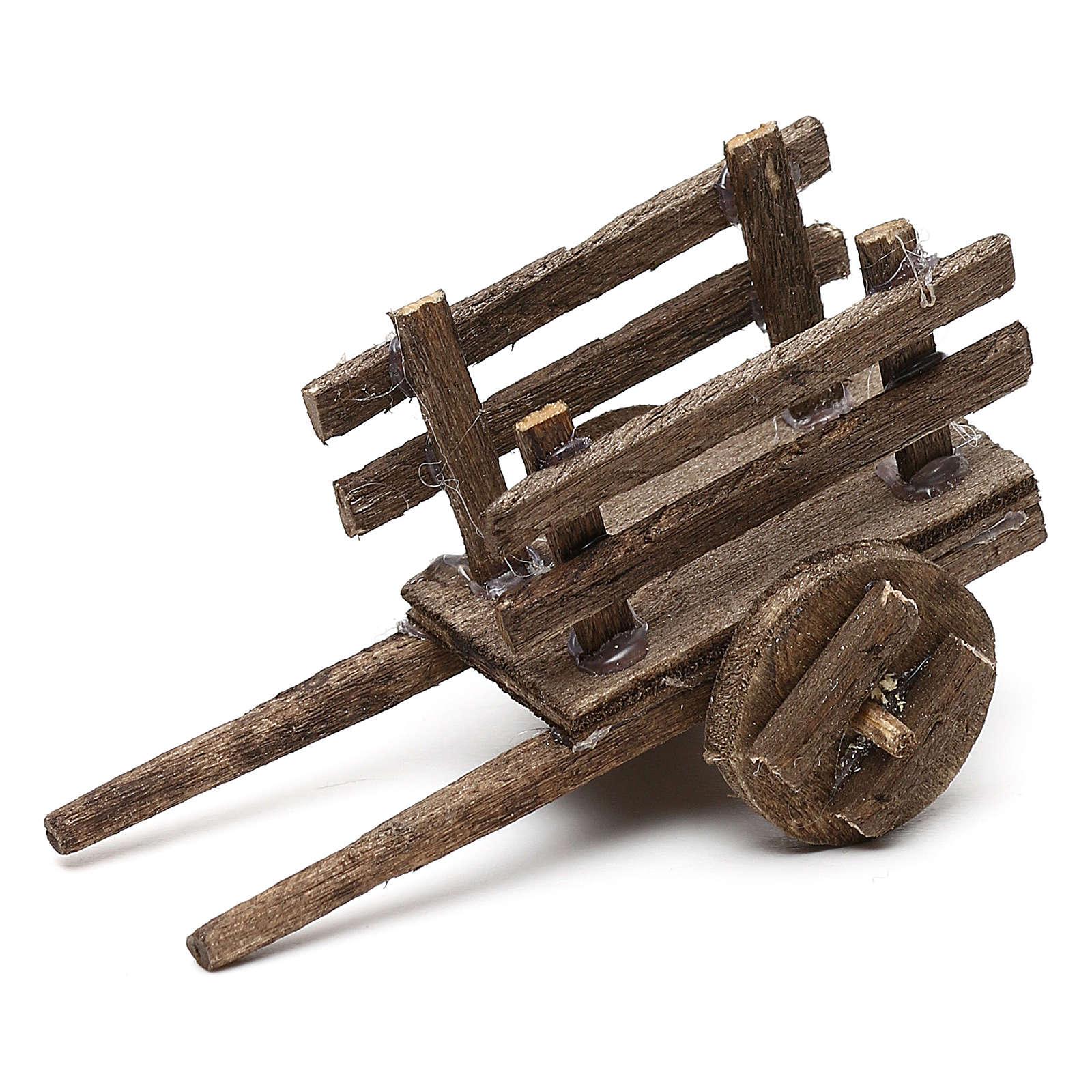 Set carretti in legno tre modelli presepe napoletano 4/6 cm 4