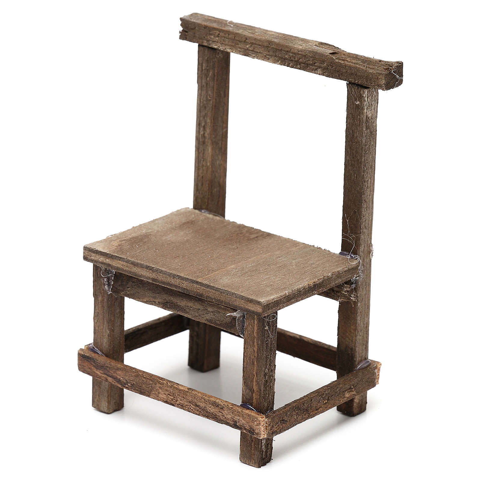 Wooden chair for Neapolitan Nativity Scene 10 cm 4