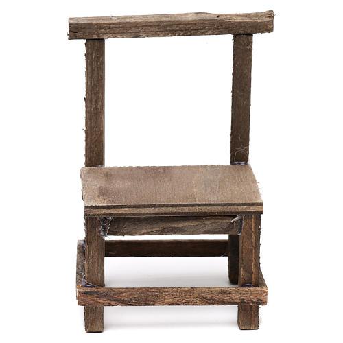 Wooden chair for Neapolitan Nativity Scene 10 cm 1