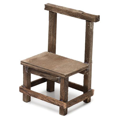 Wooden chair for Neapolitan Nativity Scene 10 cm 2