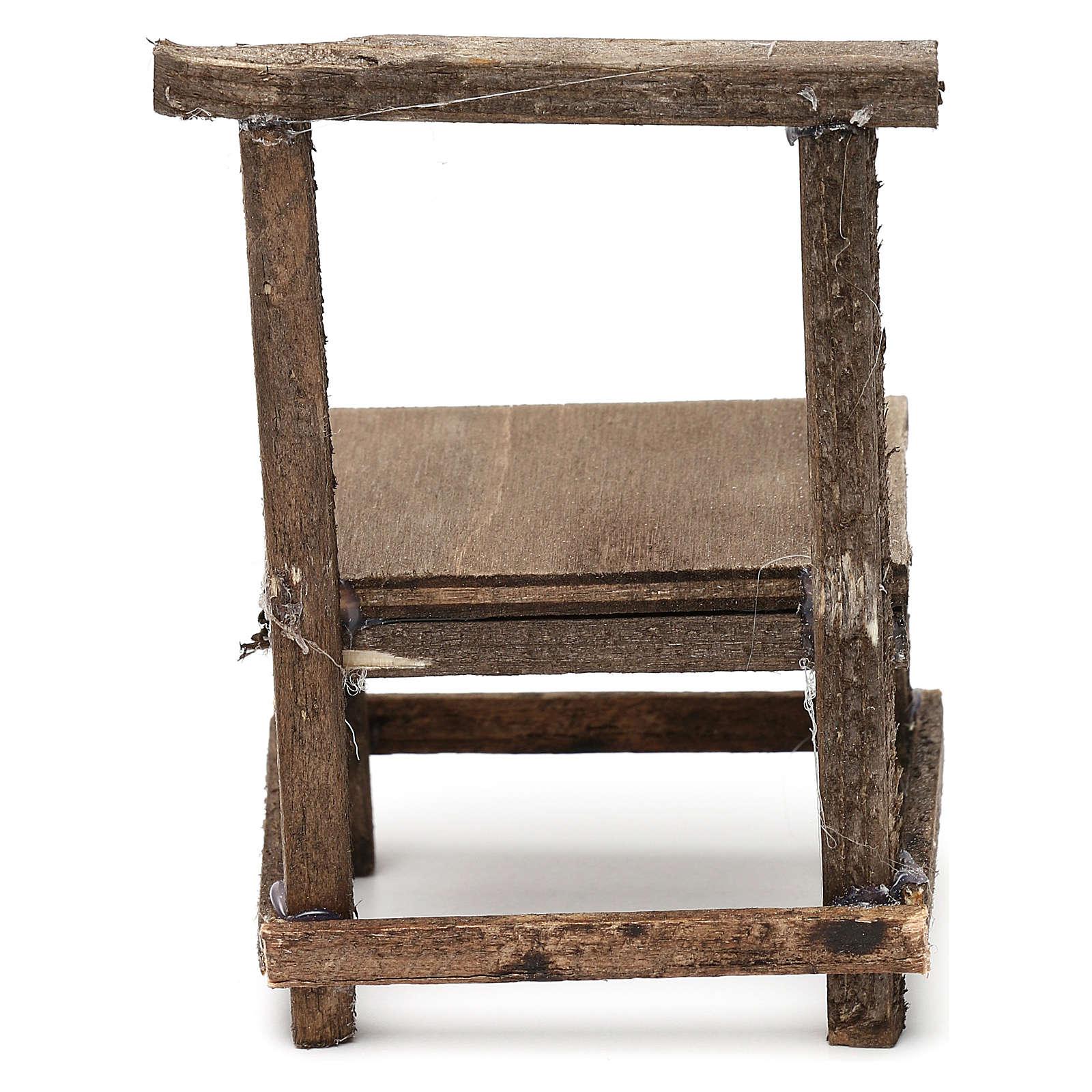 Banco in legno presepe napoletano cm 10 4