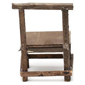 Banco in legno presepe napoletano cm 10 s3