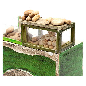 Bakery counter with bread for Neapolitan Nativity Scene 18/22 cm s2