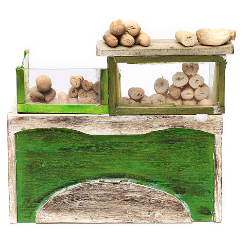 Bakery counter with bread for Neapolitan Nativity Scene 18/22 cm 1