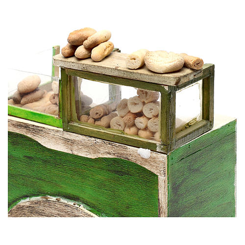 Bakery counter with bread for Neapolitan Nativity Scene 18/22 cm 2