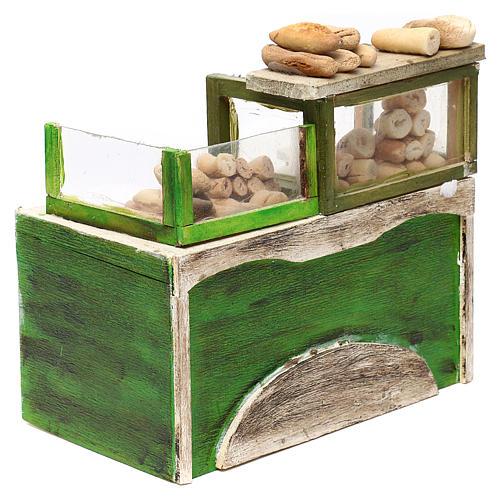 Bancone panetteria con pane presepe napoletano 18/22 cm 4