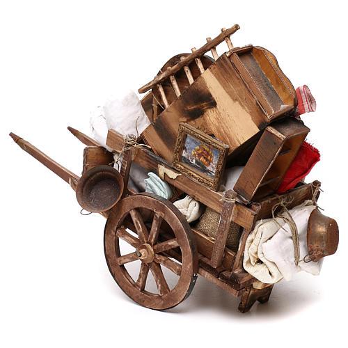 Neapolitan Nativity scene, cart with house belongings 18-22 cm 3