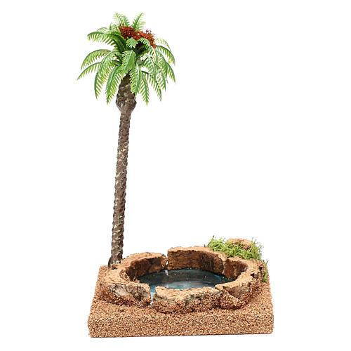 Palma con oasi per presepe 8-10 cm 1
