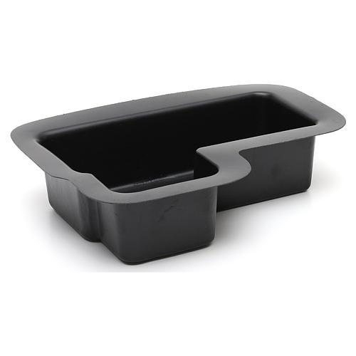 Recipiente negro para fuente belén 10x25x20 cm modelos surtidos 2