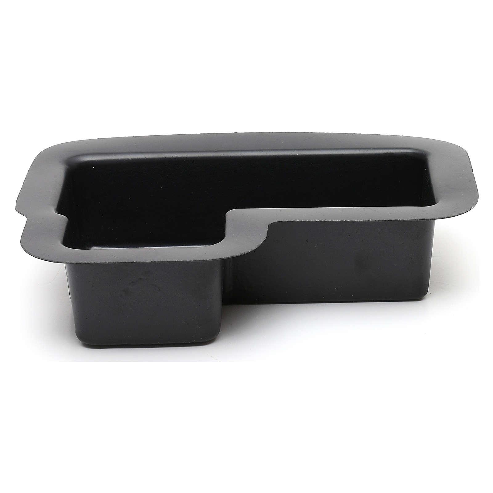 Vaschetta nera per fontana presepe 10X25X20 cm modelli assortiti 4