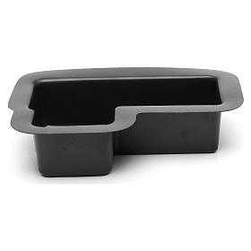 Vaschetta nera per fontana presepe 10X25X20 cm modelli assortiti s1