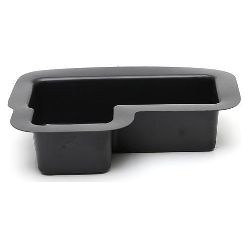 Vaschetta nera per fontana presepe 10X25X20 cm modelli assortiti 1