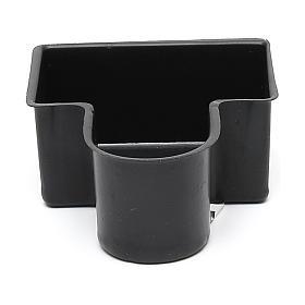 Pompes à eau et moteurs pour crèche de noel: Bassine noire pour fontaine crèche 4x8x10 cm modèles variés