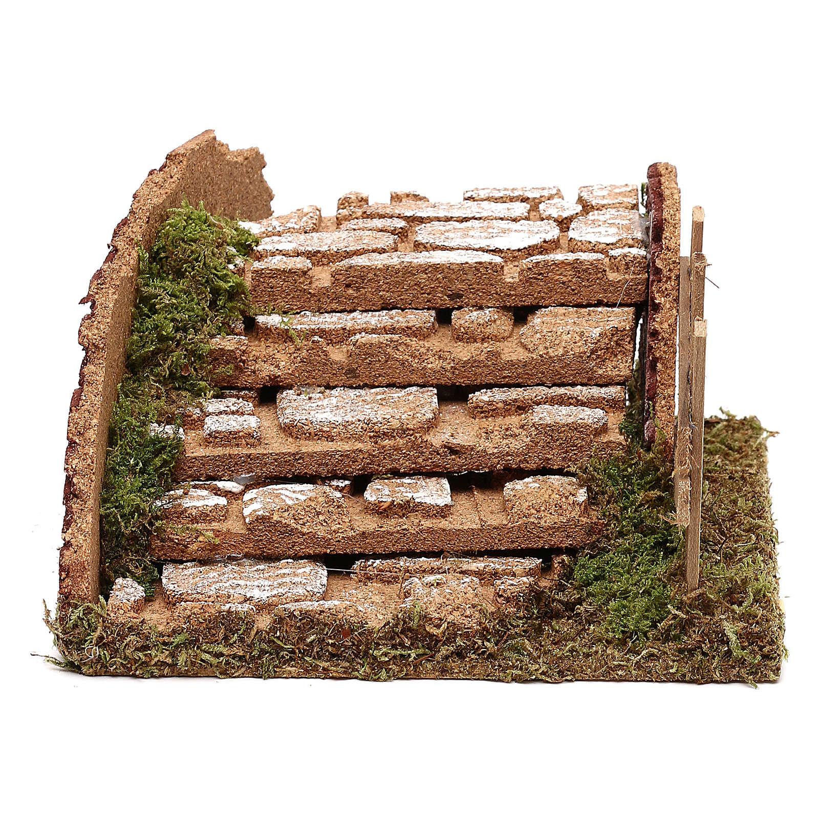 Treppe für Krippe aus Kork 10cm 4