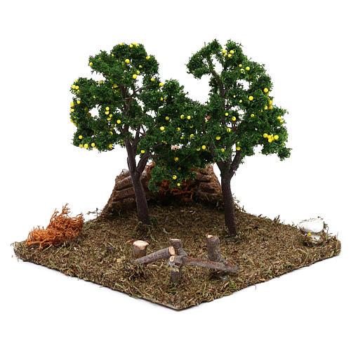 Garden with lemon trees for Nativity scene 8 cm 2