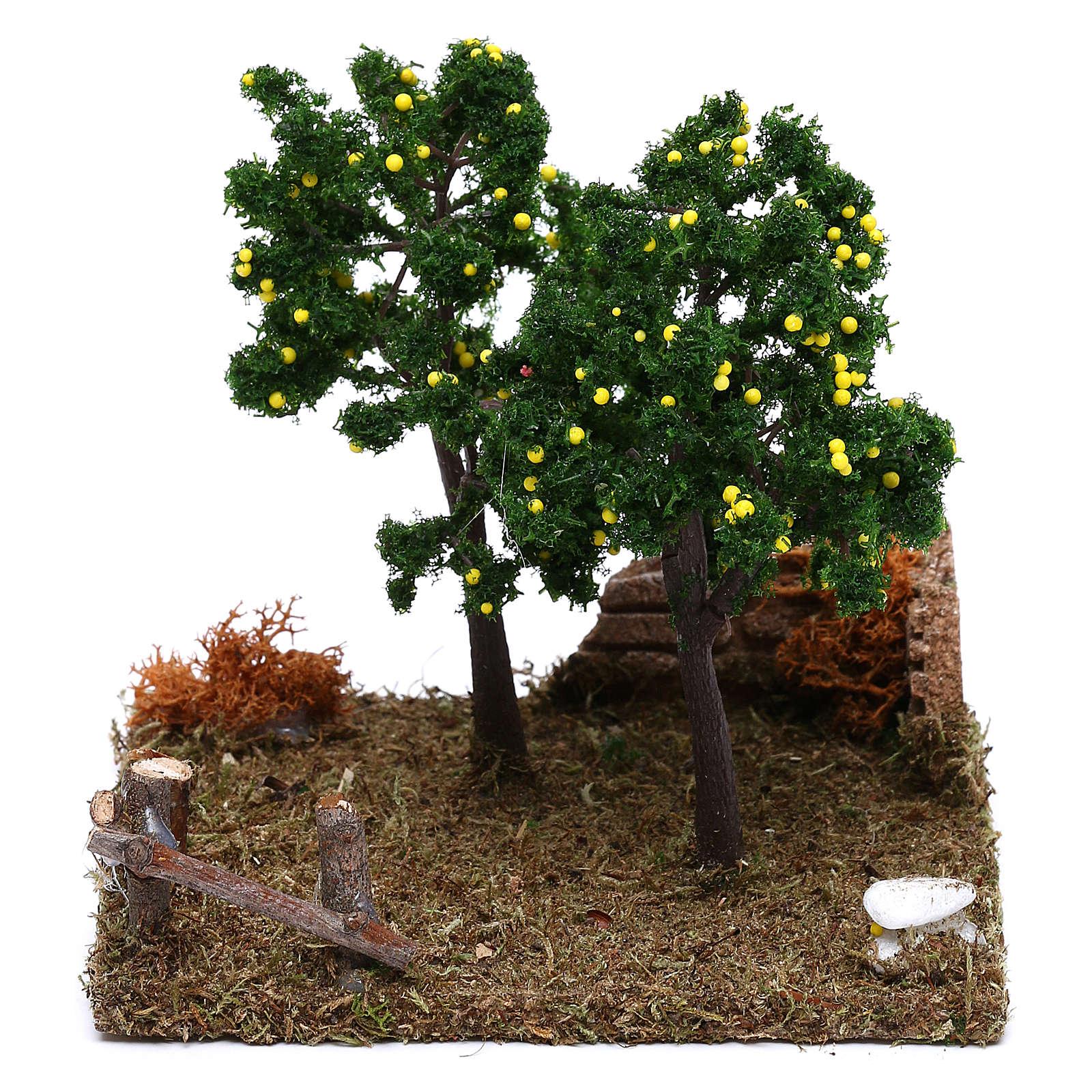 Jardín con árboles de limones belén 8 cm 4