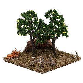 Giardino con alberi di limoni presepe 8 cm s2
