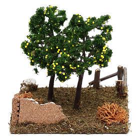 Giardino con alberi di limoni presepe 8 cm s3