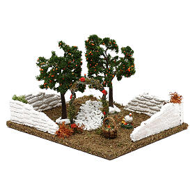 Garden with orange trees and arch for Nativity scene 8 cm s3