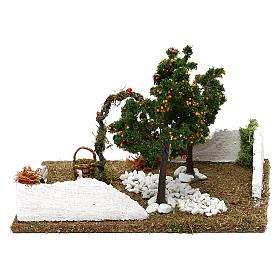 Giardino con alberi di arance e arco per presepe 8 cm s4