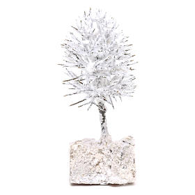Snowy tree real height 16 cm for DIY Nativity scene s1