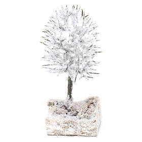 Snowy tree real height 16 cm for DIY Nativity scene s2
