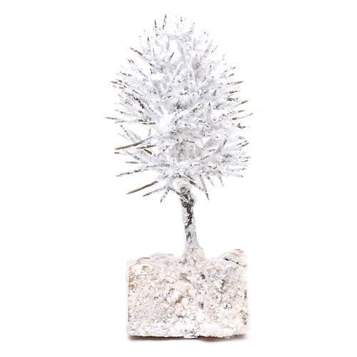 Snowy tree real height 16 cm for DIY Nativity scene 1