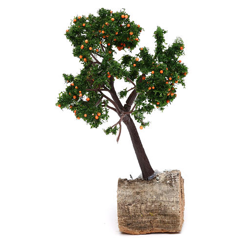 Orange tree for Nativity scene real height 15 cm 2