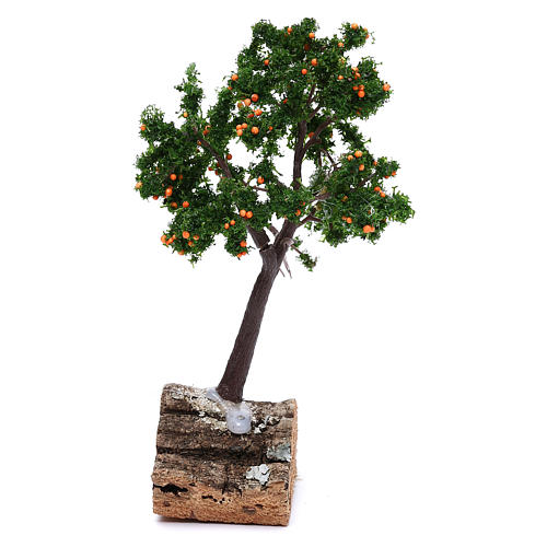 Orange tree for nativity, real h 15 cm 1